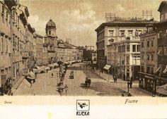 RIJEKA - Republic of Croatia - reprint of old postcard , Fiume 1900