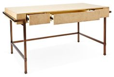Parchment Writing Desk | Contemporary Luxe | One Kings Lane