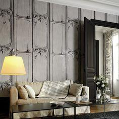 grey elitis pleats belle et interior wallpapers bete decorating homegirllondon gorgeous living