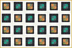 Fácil emoldurado Quatro remendo Quilt Pattern