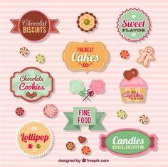 Emblemas coleção de doces