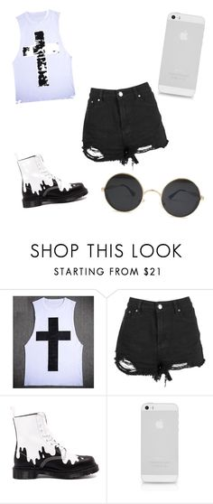 """""""Black"""" by jadyeleng on Polyvore featuring Dr. Martens"""