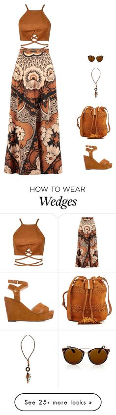 """""""nature"""" by candynena228 on Polyvore featuring Tila March, Valentino, See by Chloé, Topshop and Erica Lyons"""