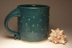 spotty green mug