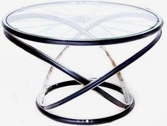 #BeautifullyUpcycled - Andy Gregg has taken the #sustainability of the bicycle to a whole new level with his furniture collection made of reused metal bike frames.     http://3rings.designerpages.com/2010/01/26/andy-greggs-bike-furniture/#axzz0kNxJE8Z9