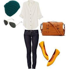 A fashion look from January 2012 featuring button down shirts, Levi's and flat shoes. Browse and shop related looks.