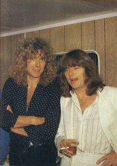 Percy and Jonesy at Knebworth, 1979