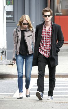 Emma Stone and Andrew Garfield in NYC