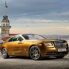 Golden Wraith Follow our Friend @Amazing_Cars for more Amazing Cars! @Amazing_Cars # Photo by NikitaNike