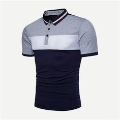 Shop Men Cut And Sew Panel Polo Shirt online. SHEIN offers Men Cut And Sew Panel Polo Shirt & more to fit your fashionable needs. Sewing Shirts, Japanese Streetwear, Shirt Refashion, Striped Polo Shirt, Polo T Shirts, Shirt Designs, Mens Tops, Men's Polo, Shopping