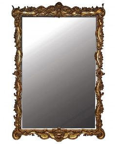 Elstow Large Traditional Ornate Gold Bevelled Glass Wall Mirrors
