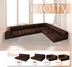 boulee: Corner sofa roof floor sofa moffy D type - Purchase now to accumulate reedemable points! Japanese Interior Design, Decor Interior Design, Low Couch, Couch Sofa, Couches, Apartment Furniture, Home Furniture, Zen Interiors, Bedroom Couch
