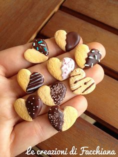 Chocolate covered heart biscuit *Miniature by Facchiana, via Flickr
