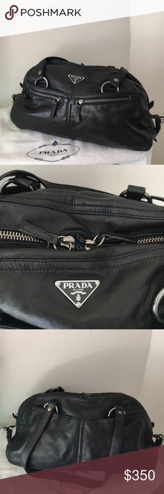 Prada Calf skin leather bag Butter soft leather with lots of storage. Beautiful bag. Prada Bags Shoulder Bags