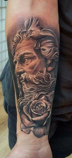 Neptun Tattoo by Radu Klein