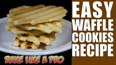 Easy Waffle Cookies Recipe - Panini Press Sugar Cookies Recipe