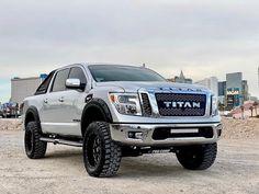 Nissan Titan Lifted, Nissan Titan Xd Diesel, Nissan Titan Truck, 2016 Nissan Titan Xd, Nissan 4x4, New Nissan, Ford Pickup Trucks, Lifted Trucks, Big Trucks