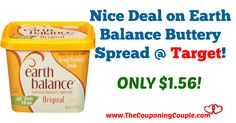 Awesome savings! Pick yours up through tomorrow 2/15! Nice Deal on Earth Balance Buttery Spread @ Target!  Click the link below to get all of the details ► http://www.thecouponingcouple.com/nice-deal-on-earth-balance-buttery-spread-target/ #Coupons #Couponing #CouponCommunity  Visit us at http://www.thecouponingcouple.com for more great posts!