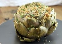Stuffed Artichokes I use Italian bread crumbs tossed with Pecorino Romano cheese and moisten with olive oil as stuffing!