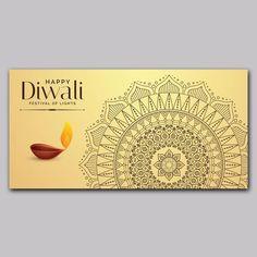 Diwali Mandala Bannergraphic Background Design Vector, Background Templates, Web Banner, Banner Template, Reset My Password, Diwali 2018, Label Shapes, Mandala, Diwali Greetings