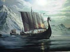 Viking ship....this is what the Viking pillagers and traders travelled upon.