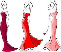 Classy Female Fashion Desing Sketches | Sketches Fashions