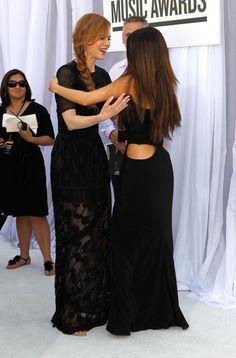 Actress Nicole Kidman and singer Selena Gomez