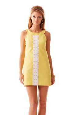 FINAL SALE - Jacqueline A-Line Shift Dress - Lilly Pulitzer Sunglow Yellow