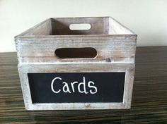 Dodmoor House card box, guests love to put their card 'in' something rather than leave them on a table. Tan Wedding, On Your Wedding Day, Apple Boxes, House Of Cards, Friend Wedding, Flip Clock, A Table, Your Cards, Wedding Venues