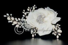 Wedding Hair Flower with Pearl & Rhinestones Sprays