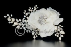 Wedding Hair Flower with Pearl and Rhinestones Sprays