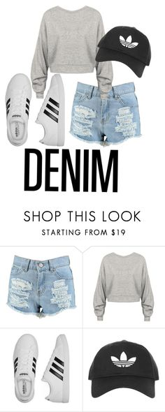 """Denim- Look #4"" by hope-12331 on Polyvore featuring Boohoo, adidas and Topshop"
