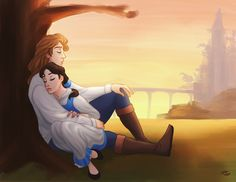"""Beauty Rest by xldlcrz.deviantart.com on @DeviantArt - Prince Adam and Belle from """"Beauty and the Beast"""""""