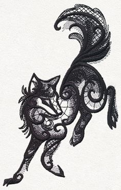 Dark Creatures - Wolf | Urban Threads: Unique and Awesome Embroidery Designs