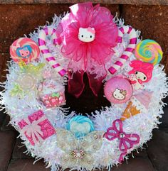 Hello Kitty- omg I so want this for my house. Robert I'm so sorry but Easter this will be on our door. Lol
