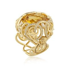 Crystal ring by Atelier Versace