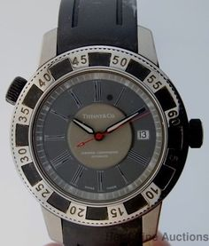 Mens Genuine Tiffany Certified Chronometer Automatic Date Large Wrist Watch #TiffanyCo #LuxurySportStyles