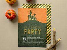 Haunted  Halloween Party Invitation Haunted