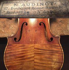 "A gorgeous by N. A ""poor mans"" Vuillaume. Violin Shop, Violin Makers, Cellos, Antonio Stradivari, Vintage Menu, Music Love, Classical Music, Music Instruments, Water Colors"