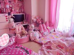 ideas for bedroom diy goth pink Cute Room Decor, Dream Rooms, Dream Bedroom, Room Ideas Bedroom, Bedroom Decor, Kawaii Bedroom, Otaku Room, Room Setup, Townhouse