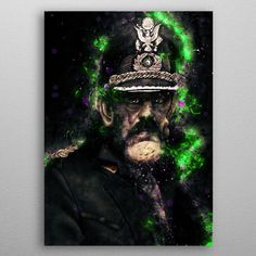 Lemmy Caricature by Abraham Szomor | metal posters - Displate