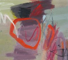 Jane Lewis, sun & rock, oil on canvas, 40 x 45 cm