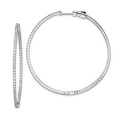 3mm Polished 14k White Gold Triangular Hoop Earrings 20mm 3 4 Inch Review Pinterest