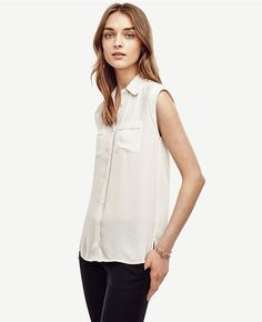 Primary Image of Cap Sleeve Camp Shirt