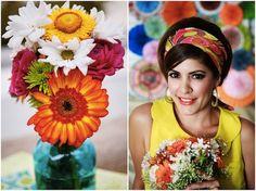Vibrant, Colourful 1960s Mod Style Palm Springs Elopement Shoot   Bridal Musings Wedding BlogBridal Musings Wedding Blog