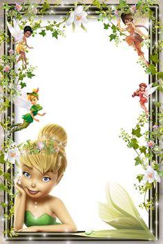 png frame kids frame png  Tinker Bell frame png  disney  frame Cartoon frame png…