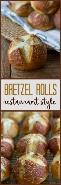 These homemade bretzel rolls remind me of a restaurant we used to frequent years ago. Soft, delicious pretzel buns, perfect with dinner or as sandwich buns.