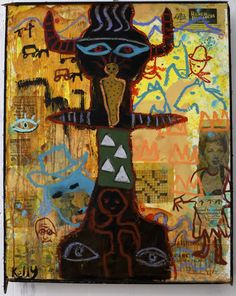 """Totem"" by Santa fe New Mexico Flea Market artist Kelly Moore"