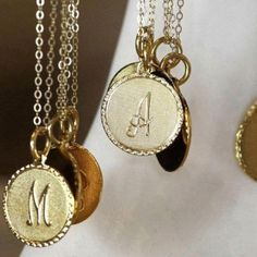 Gold initial charms