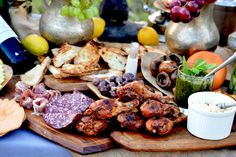 """Tapas for Sundowners @ """"The Thirsty Lion"""" by Vumbura South Thirsty Lion, Safari Food, Delicious Desserts, Yummy Food, Camps, High Tea, Main Meals, Fun Ideas, Food Styling"""